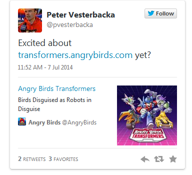 Rovio promite ca Angry Birds Transformers va sosi in curand