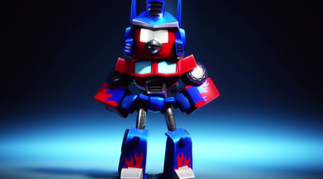 Asa arata Optimus Prime adica Red Bird in Angry Birds Transformers (Video)