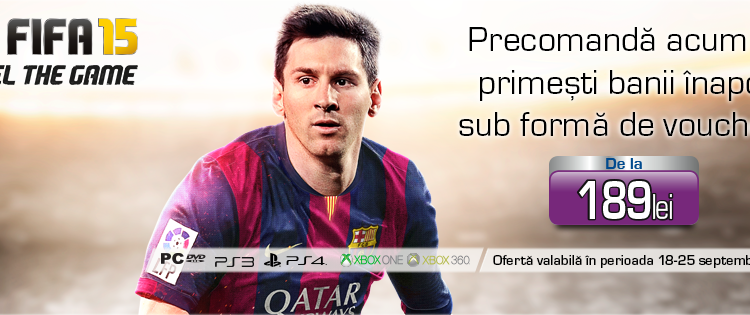 Iata detalii despre lansarea lui FIFA 15 de la Media Galaxy de pe 26 septembrie