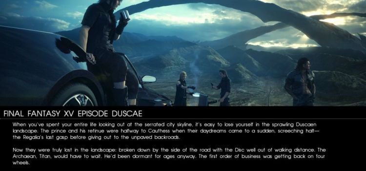 Final Fantasy XV Episode Duscae Preview: bromance, baieti efeminati in padure si lupte bine puse la punct (Video)