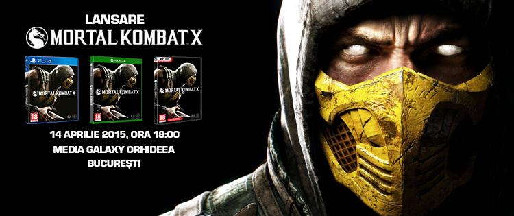 Mortal Kombat X se lanseaza in Romania pe 14 aprilie la ora 18:00 la Media Galaxy Orhideea