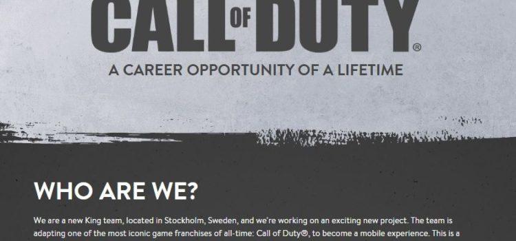 Viitorul joc Call of Duty pentru mobil e dezvoltat de King, creatorul Candy Crush