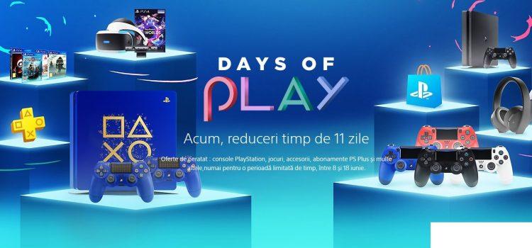 Sony porneşte Days of Play: reduceri la accesorii, jocuri, console