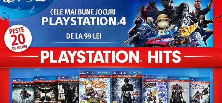 Sony lansează PlayStation Hits: jocuri de colecţie PS4 de la doar 99 de lei