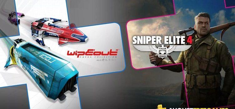 Jocurile gratuite PlayStation Plus pe august 2019: Wipeout Omega şi Sniper Elite 4