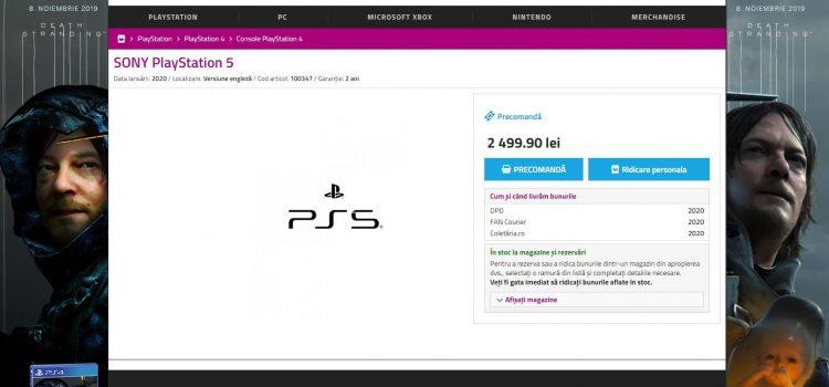 Un retailer din România a listat deja PlayStation 5 la precomandă; Iată preţul său!