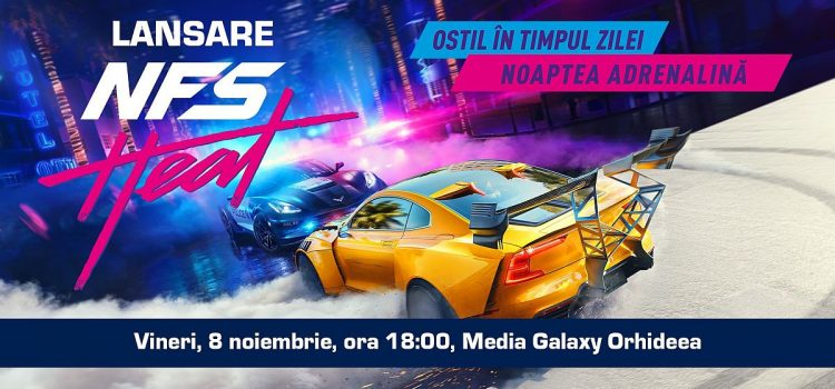 NFS Heat se lansează în România pe 8 noiembrie la Media Galaxy Orhideea