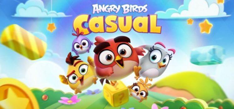 Angry Birds Casual este cel mai nou joc din seria Rovio şi se întoarce la origini