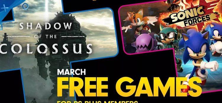 Jocurile gratuite PlayStation Plus pe luna martie sunt Shadow of the Colossus şi un titlu Sonic
